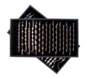 Dienblad 1 van juwelen Stock Foto's
