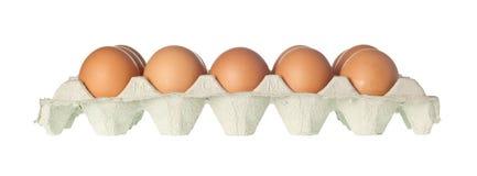 Dienblad van eieren Stock Afbeelding