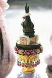 dienblad van gift van bruidegom aan bruid Stock Afbeelding