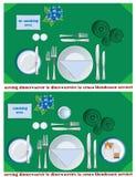 Dienend diner Stock Afbeeldingen