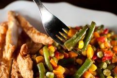 Dienende bonen bij diner Stock Fotografie