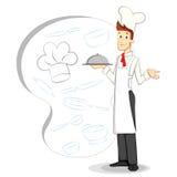 Dienende Chef-kok Vector Illustratie