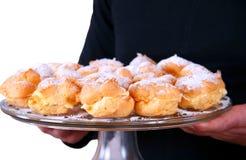 Dienende heerlijke cakes Royalty-vrije Stock Foto
