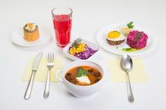 Dienende lunch Stock Foto