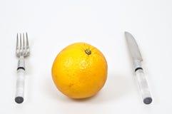 Dienende orange Frucht Lizenzfreie Stockfotografie