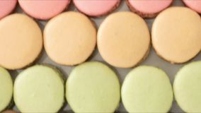 Dienendes buntes Macarons stock video