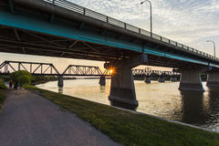Free Dienfenbaker Bridge In Prince Albert Stock Photo - 32984410