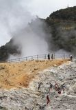 Dieng crater Royalty Free Stock Photos