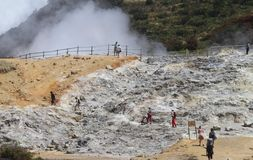 Dieng crater Royalty Free Stock Images