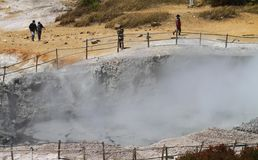 Dieng crater Stock Images