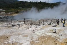 Dieng crater Royalty Free Stock Photo