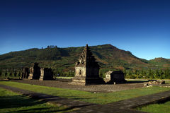 Dieng Plateau Temple Complex. A Group of Temple, located on Dieng Plateau Central Java. This is the Arjuna Compound Group Stock Image