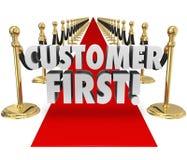 Dienst Met hoogste prioriteit van de het Tapijtcliënt van klanten de Eerste Woorden Rode royalty-vrije illustratie