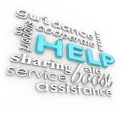 Dienst Van de Achtergrond woorden van de hulp 3D van de Steun Royalty-vrije Stock Foto's