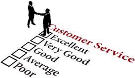 Dienst van de bedrijfsverhoudings de uitstekende klant vector illustratie