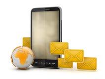 Dienst voor korte berichten - mobiele technologie Royalty-vrije Stock Afbeeldingen
