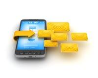 Dienst voor korte berichten (SMS) - celtelefoon Stock Foto