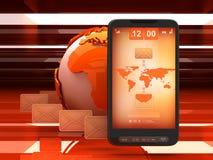 Dienst voor korte berichten (SMS) - conceptenillustratie Stock Afbeelding