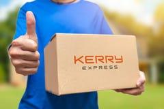 Diensten van de het pakketlevering van Kerry de uitdrukkelijke Thailand royalty-vrije stock afbeeldingen