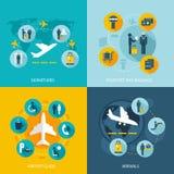 Diensten van de luchthaven de eindvlucht Stock Afbeeldingen