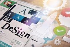 Dienstleistungen im Designbereich Stockfotografie