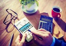Dienstleistungs-Kundenbetreuungs-Büro-Arbeitskonzept Lizenzfreies Stockbild