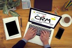 Dienstleistungsunternehmen CRM Kunde CRM-betriebswirtschaftlicher Auswertung lizenzfreies stockfoto