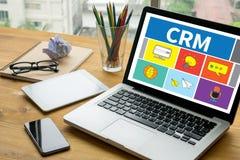Dienstleistungsunternehmen CRM Kunde CRM-betriebswirtschaftlicher Auswertung stockfotografie