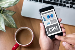 Dienstleistungsunternehmen CRM Kunde CRM-betriebswirtschaftlicher Auswertung lizenzfreies stockbild