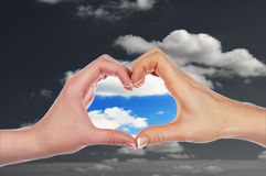 Dient de vorm van hart in Stock Afbeelding
