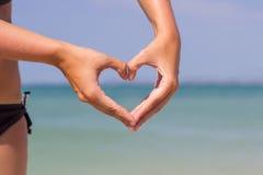 Dient hartvorm in Royalty-vrije Stock Foto