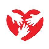 Dient hartvorm in Royalty-vrije Stock Afbeelding