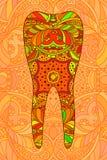Diente anaranjado decorativo Foto de archivo libre de regalías