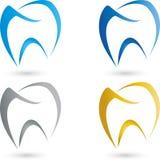 Diente, coloreado, logotipo del dentista