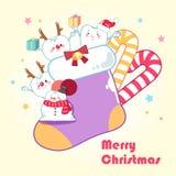 Diente con Feliz Navidad Imagen de archivo