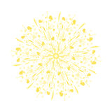 Diente de león estilizado del amarillo de la acuarela Foto de archivo