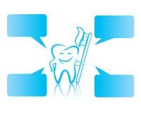 Diente feliz con el cepillo de dientes Imagenes de archivo
