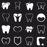 Diente, iconos del vector de los dientes fijados Imagen de archivo libre de regalías