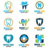 Diente para la odontología/el stomatologist/el logotipo dental de la clínica Imagenes de archivo