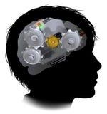Dientes Brain Child de los engranajes de funcionamientos de la máquina Foto de archivo