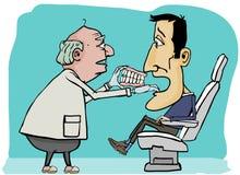 Dientes cambiantes del dentista Imagen de archivo libre de regalías