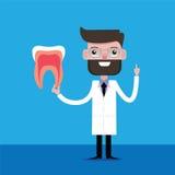 Dientes de explicación del dentista Fotos de archivo libres de regalías