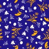 Dientes de león, hojas y polca Dots Pattern Imagenes de archivo