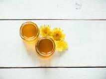 Dientes de león y miel amarillos, brillantes de la flor fotos de archivo libres de regalías