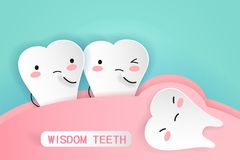 Dientes de sabiduría con concepto de la salud libre illustration