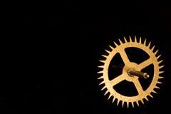 Dientes del reloj de Steampunk en fondo negro Imagen de archivo