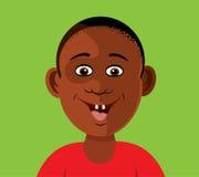 Dientes sonrientes del muchacho negro Foto de archivo libre de regalías
