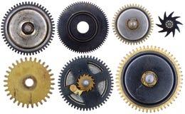 Dientes viejos del reloj imagenes de archivo