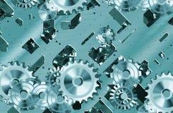Dientes y maquinaria del mecanismo ilustración del vector