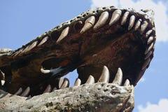 Dientes y quijada del dinosaurio Fotografía de archivo libre de regalías